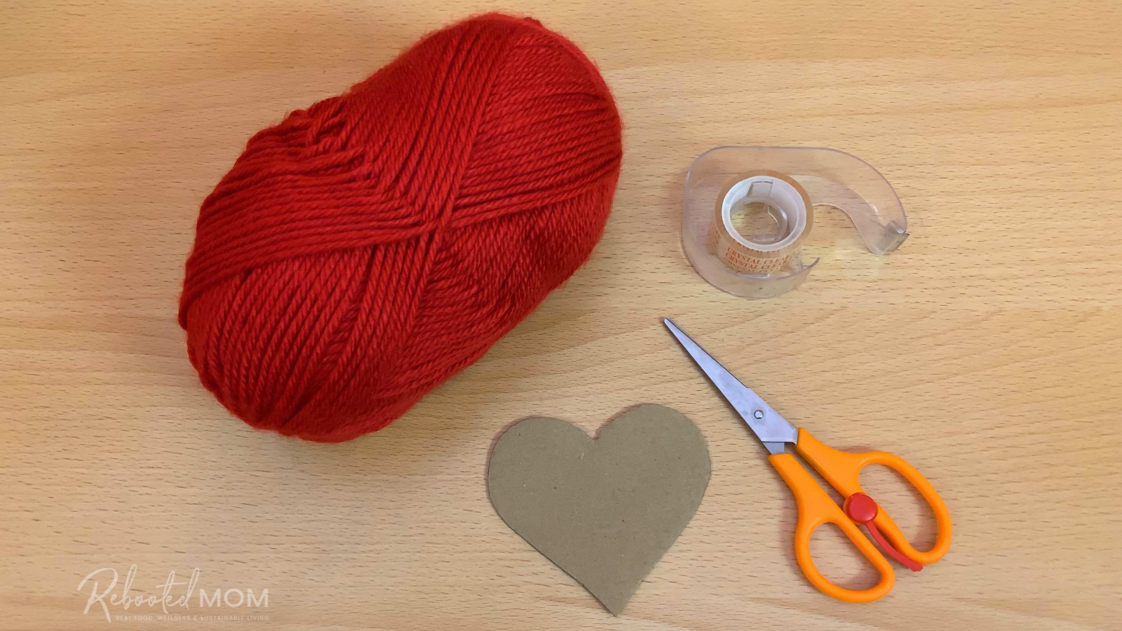 Easy yarn wrapped hearts are the perfect craft decoration made with yarn - such a sweet gift for Valentine's Day, Mother's Day and even Christmas!