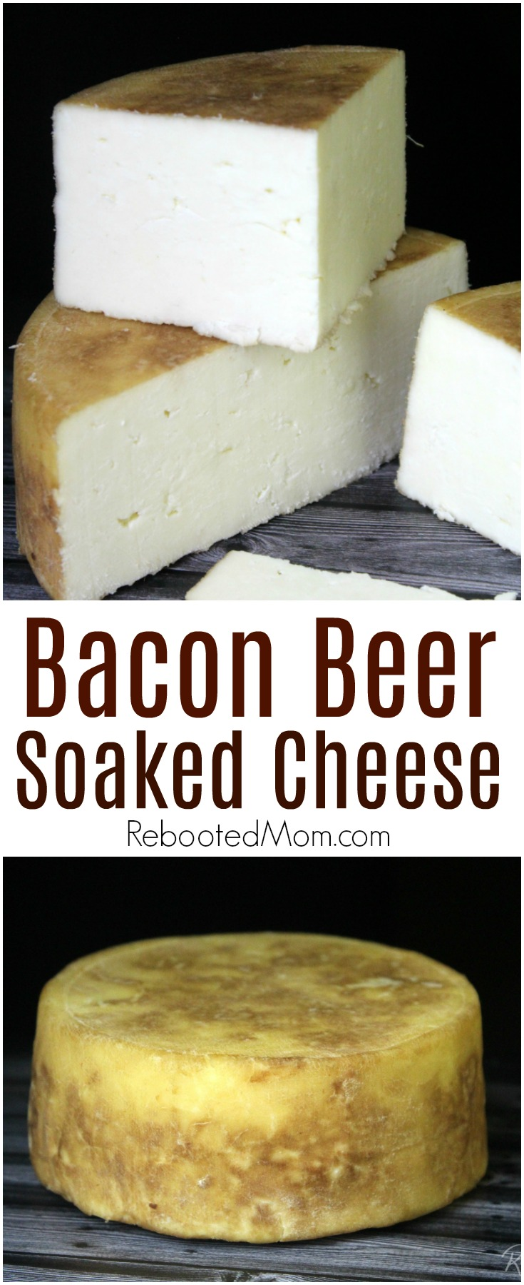 Bacon beer soaked cheese - such a flavorful and rich infusion to a fresh wheel of your favorite creamy Jack cheese, taking it to new levels! #beer #bacon #cheese #cheesemaking #rawmilk
