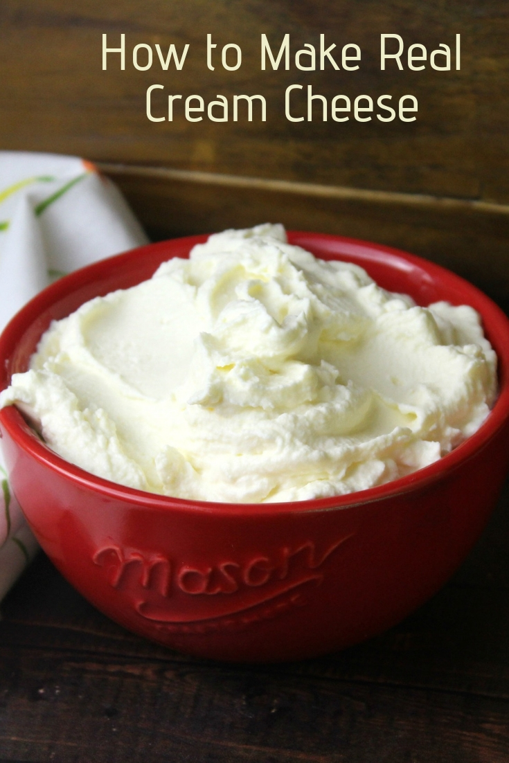 Real cream cheese that comes together nicely with milk, rennet, culture and sea salt. Enjoy this plain or stir in your favorite herbs!  #creamcheese #rawmilk #dairy #cheesemaking #homestead #cheese