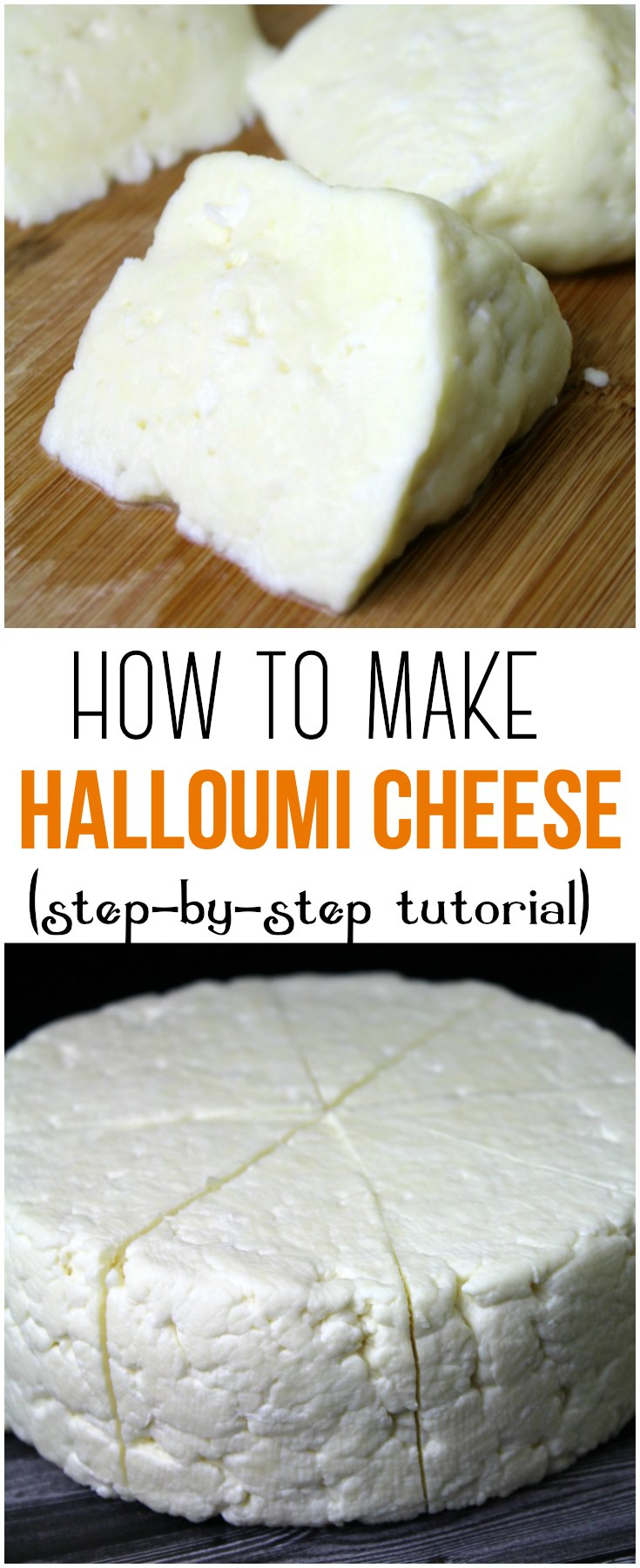Learn how to make delicious Halloumi Cheese at home with this easy to follow, step-by-step tutorial and just a few simple ingredients!    #halloumi #cheese #cheesemaking #rawmilk #tutorial