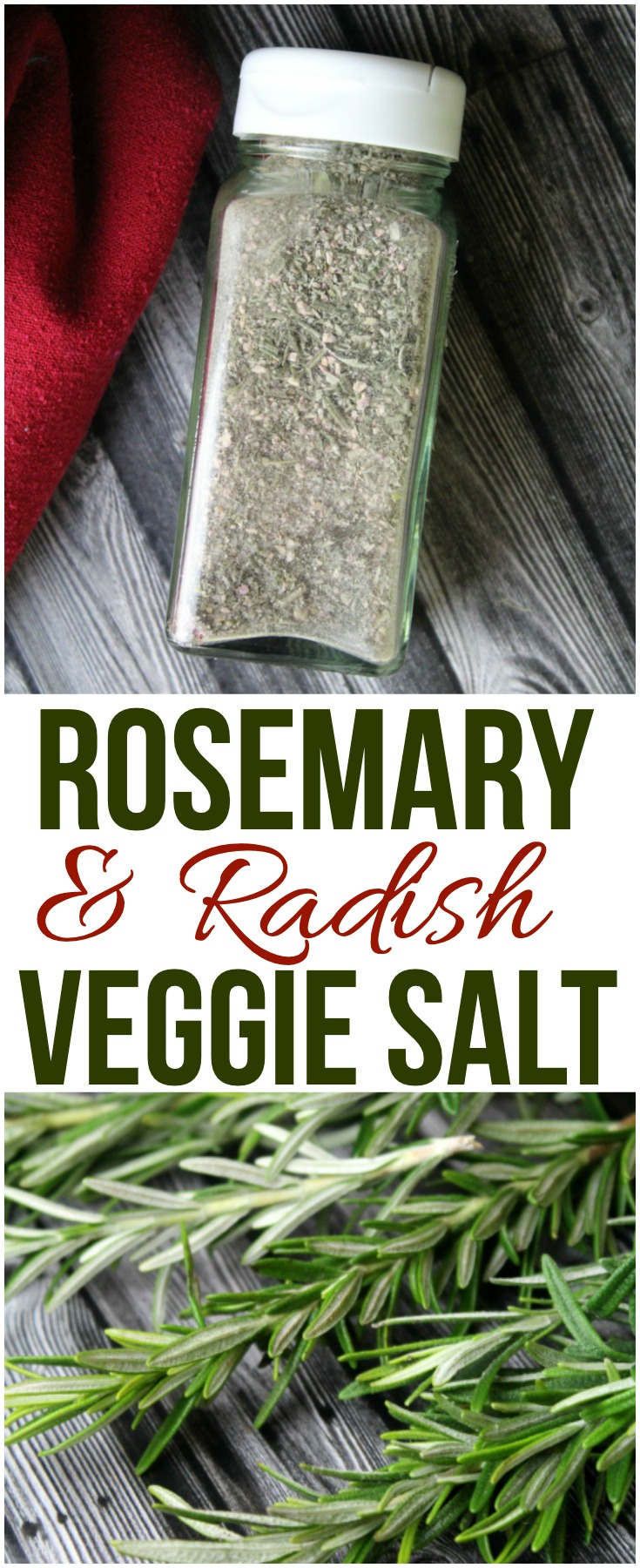 Rosemary Radish Veggie Salt is a simple and creative way to use up your garden bounty and a delicious way to flavor your favorite summer foods!