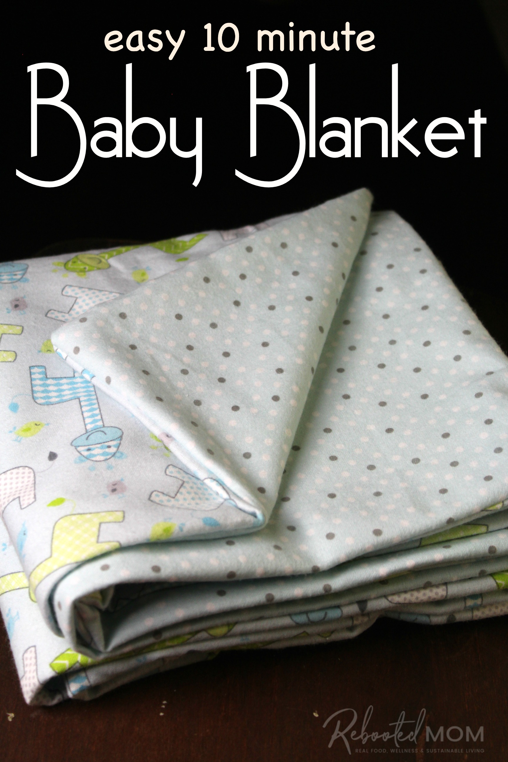 Easy 10 minute Baby Blanket Pattern