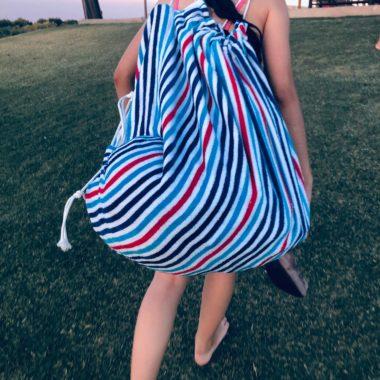 DIY Beach Towel Bag