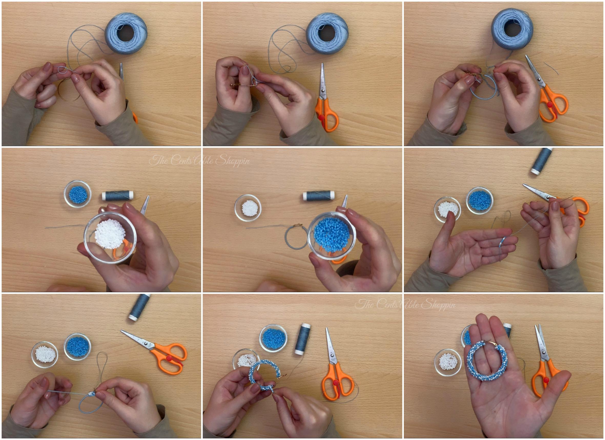 Step by Step: DIY Pearl Hoop Earrings
