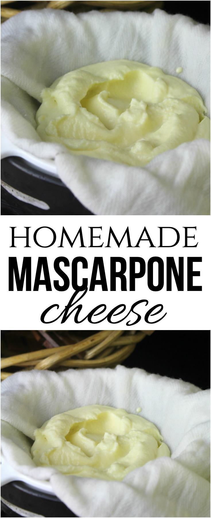 Homemade Mascarpone Cheese