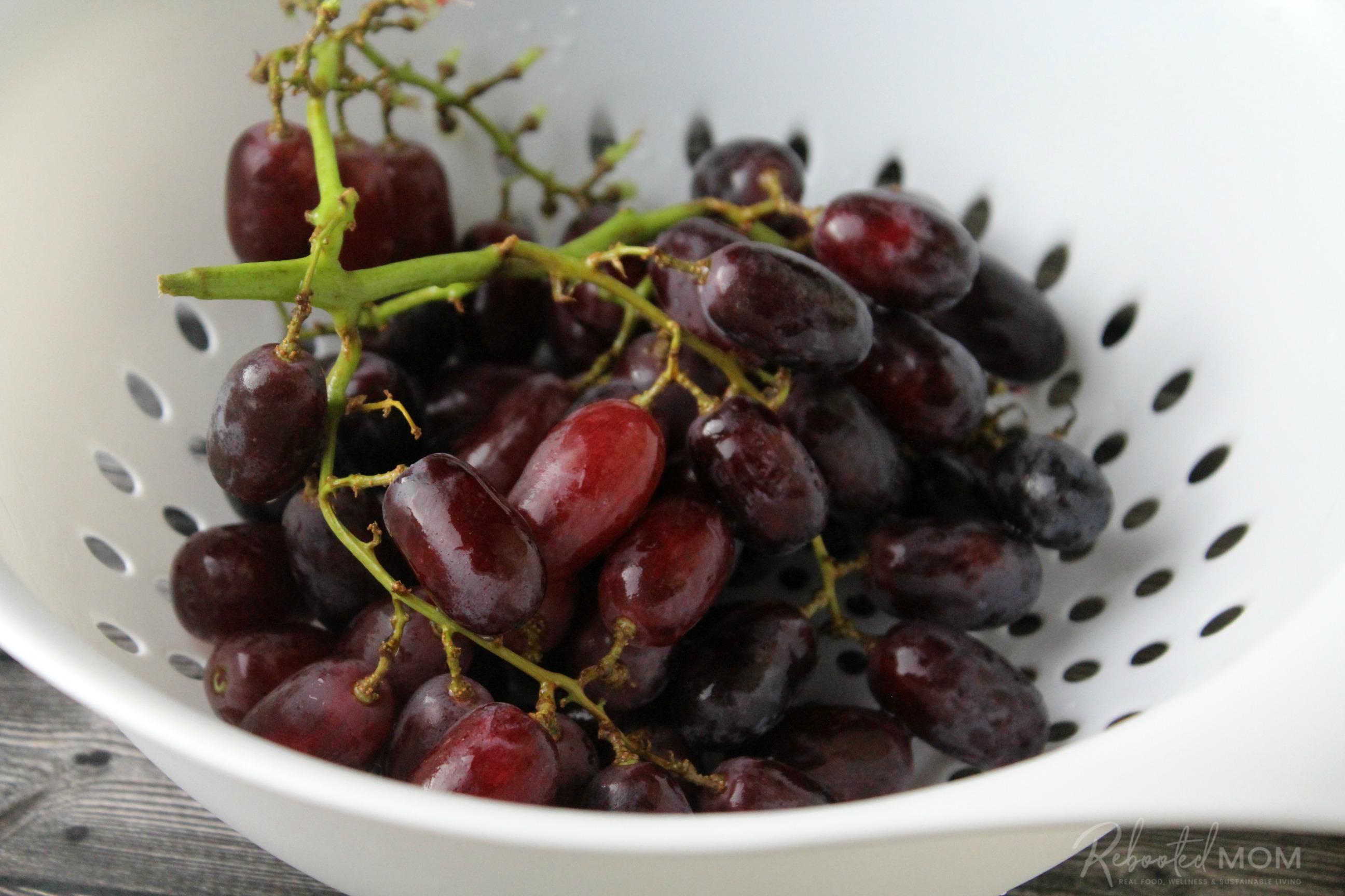 Organic red grapes for sourdough starter