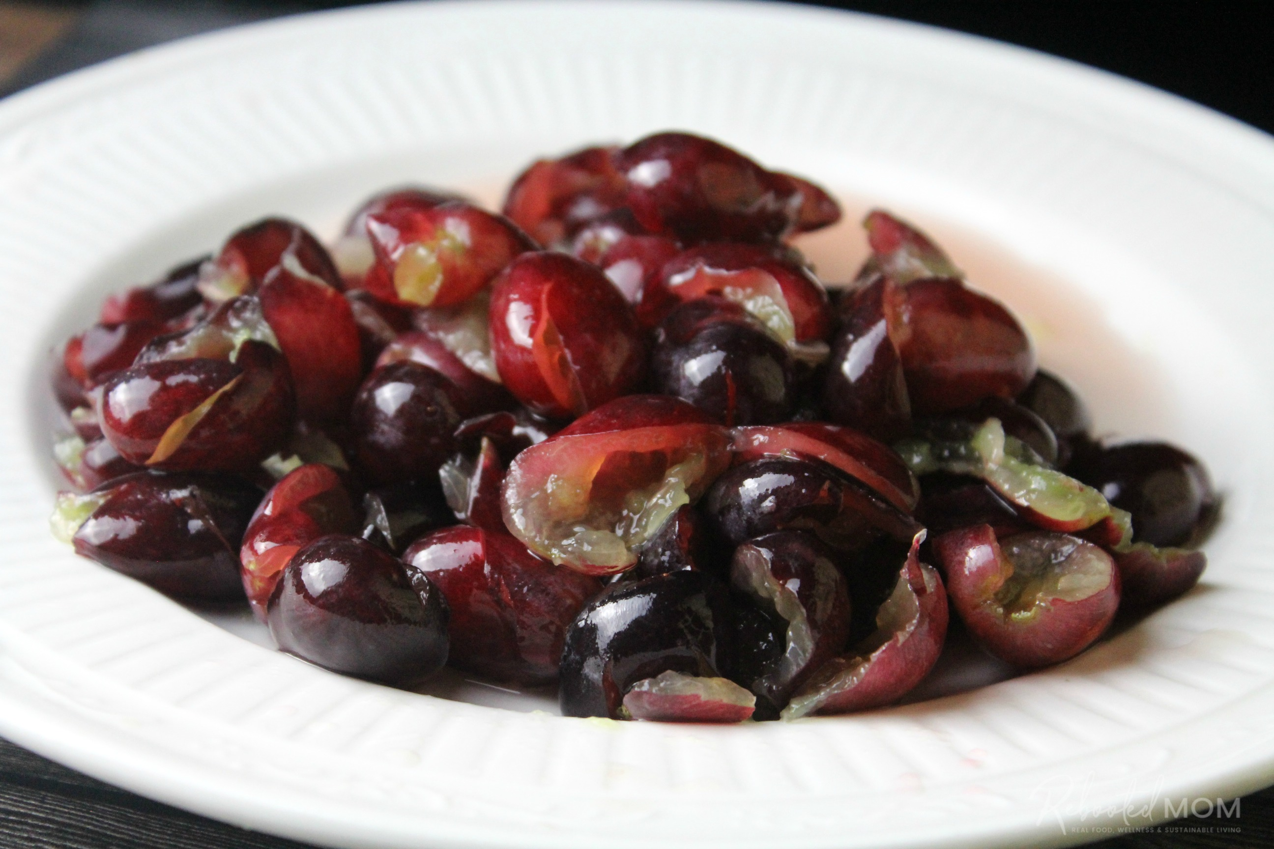 Red Grapes before being added to flour and water