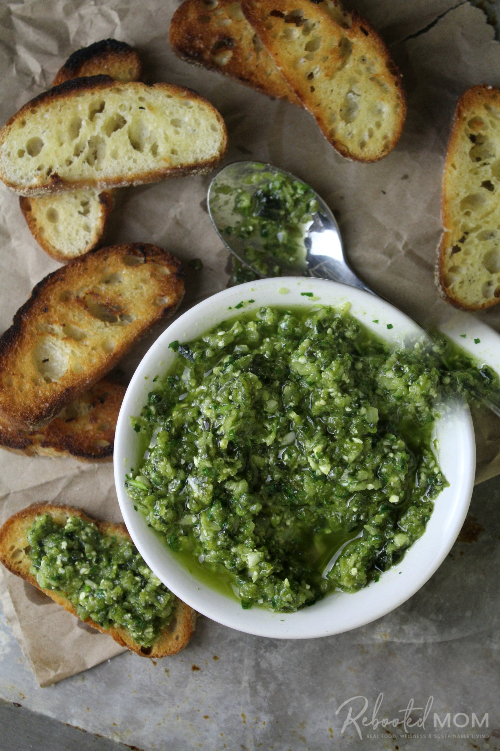 Roasted Poblano and Garlic Pesto