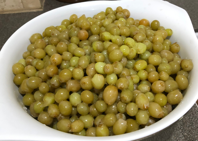 Grapes in a Colander