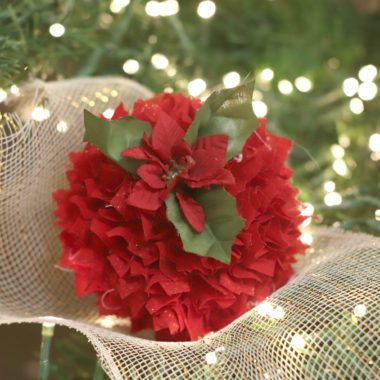Foam Ball Fabric Scrap Ornaments