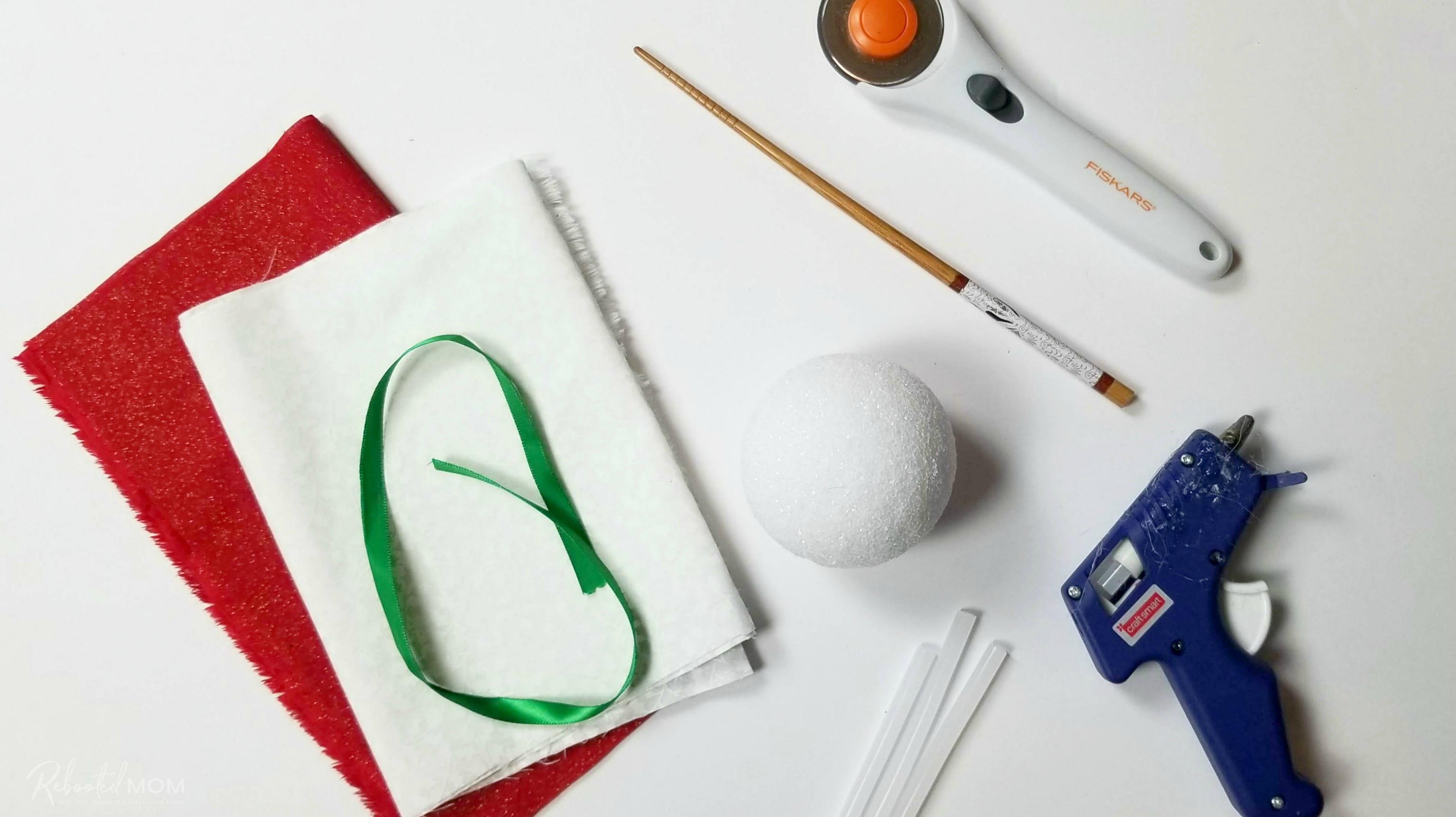 Foam Ball Fabric Scrap Ornament