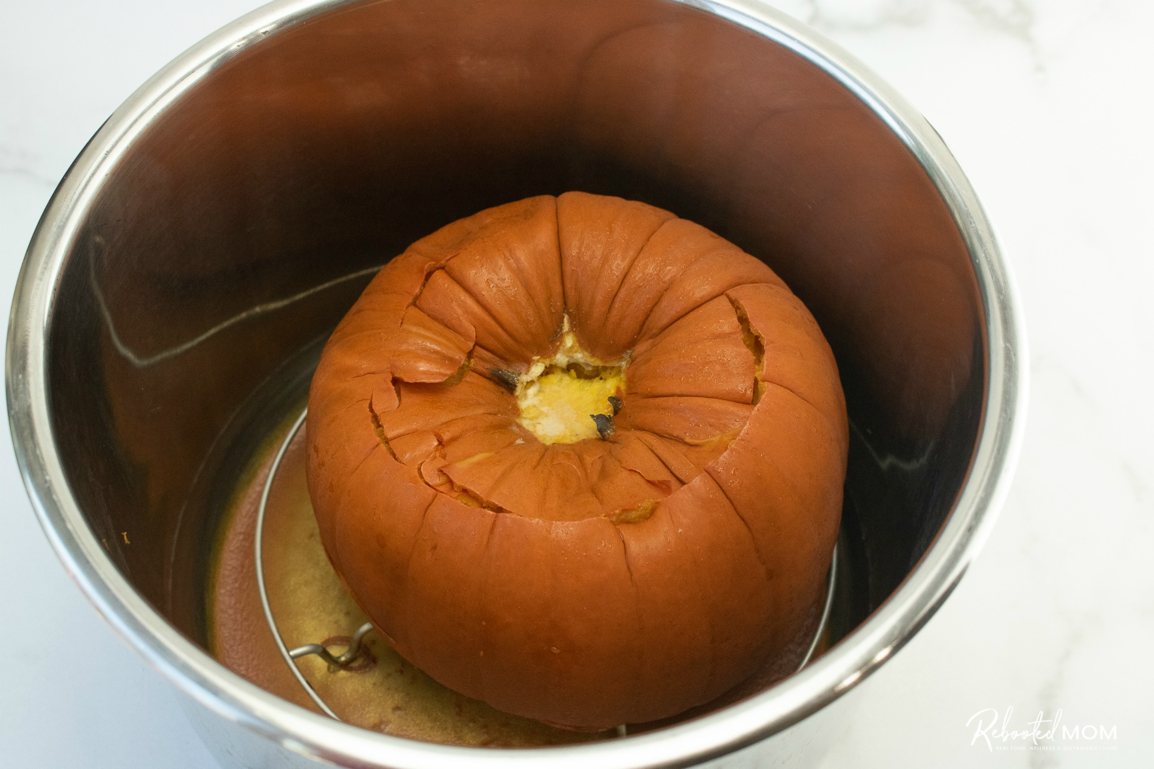 Whole pumpkin in the Instant Pot