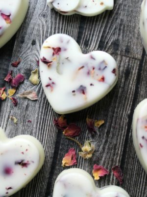 3 ingredient Heart Lotion Bars