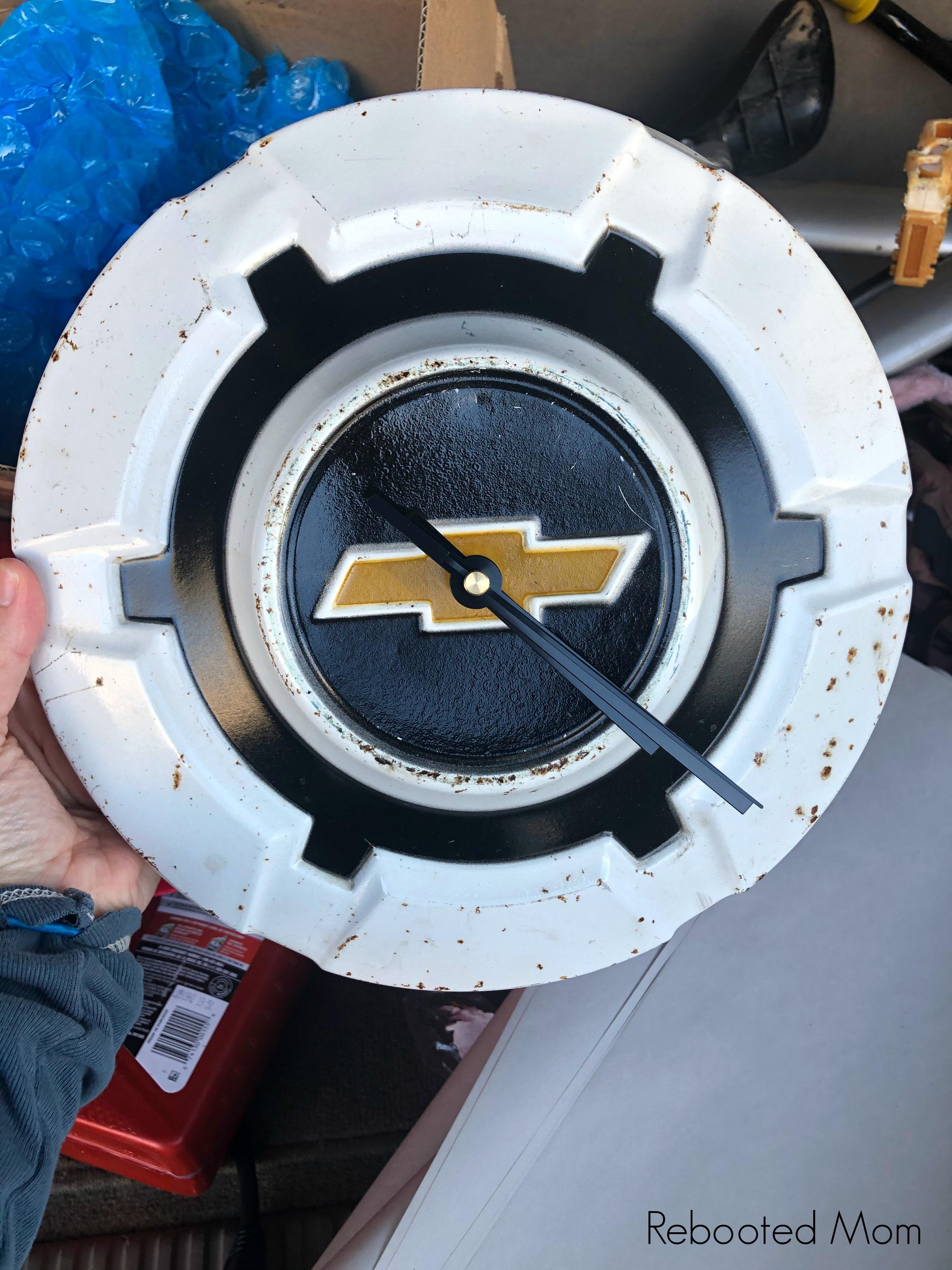 Chevy Hubcap Clock