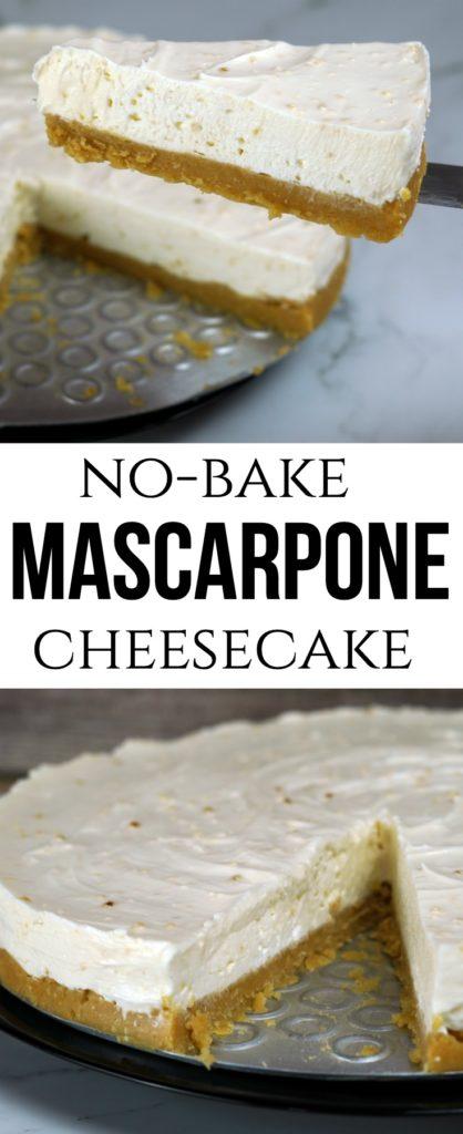 No Bake Mascarpone Cheesecake