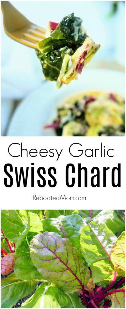 Cheesy Garlic Swiss Chard