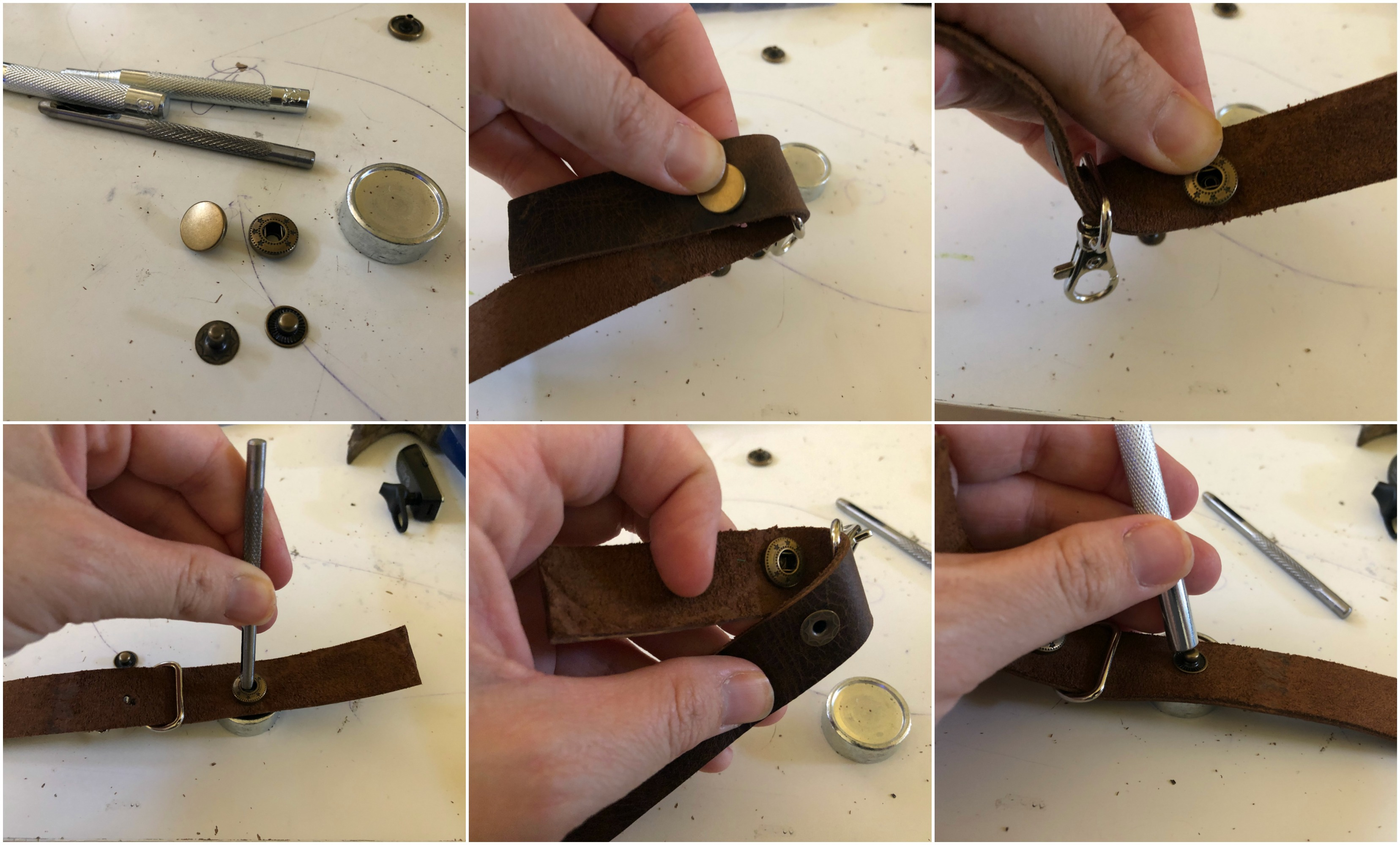 Step by Step: Leather Key Chain DIY
