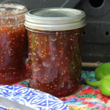 Raspberry Green Chile Jam