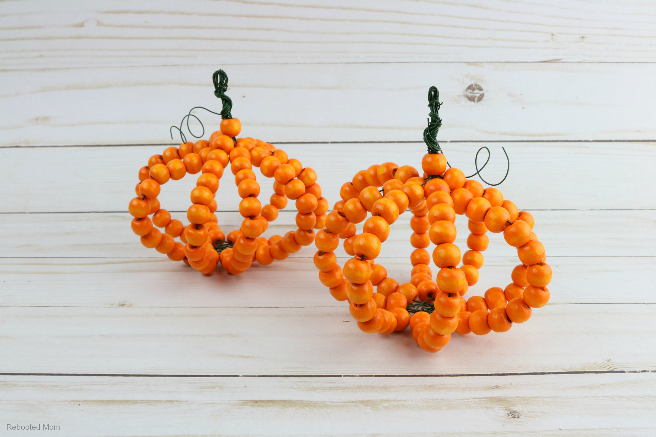 Wood Bead Pumpkin