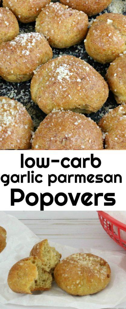 Low Carb Garlic Parmesan Popovers