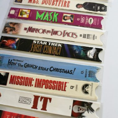VHS Movie Cover Bookmarks