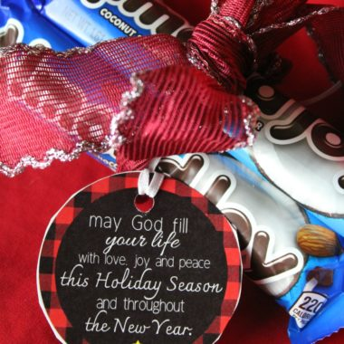 Almond Joy Christmas Gift Tags