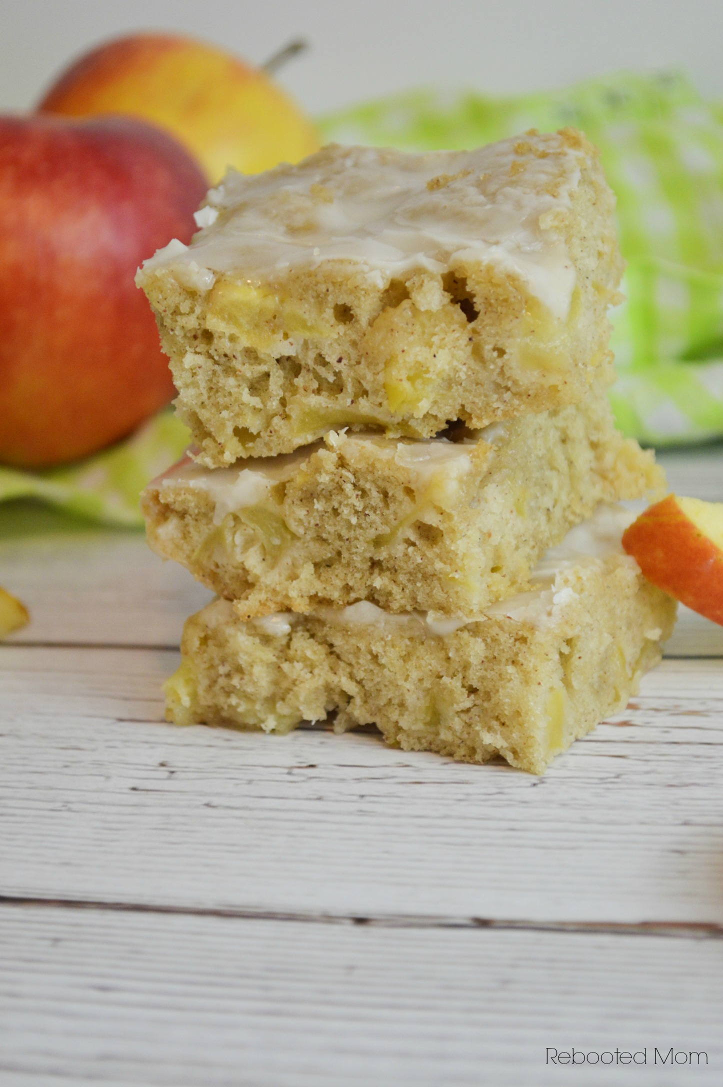 Maple Apple Blondies