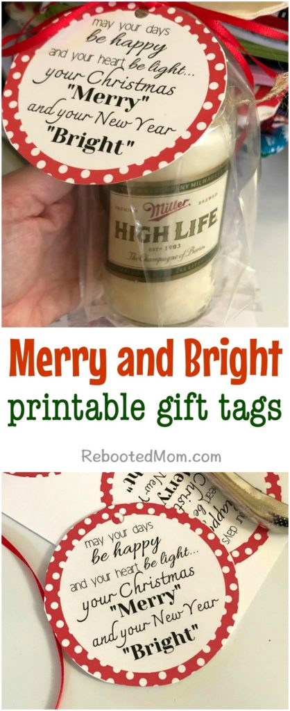 Merry and Bright Printable Gift Tags