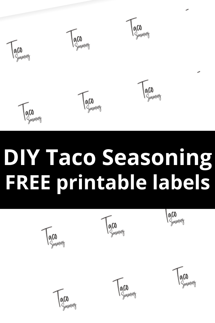 DIY Taco Seasoning Labels