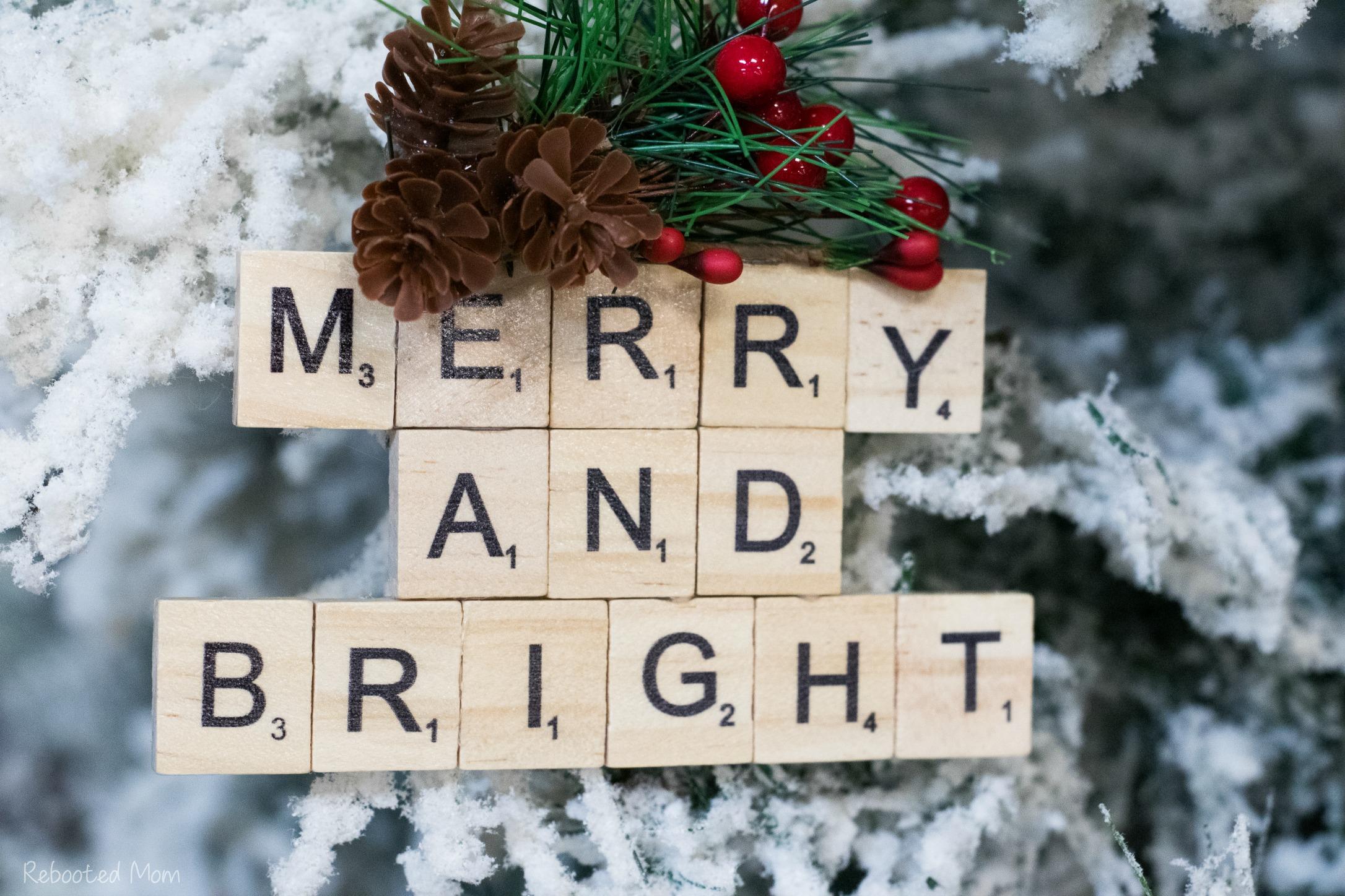 DIY Scrabble Tile Ornament