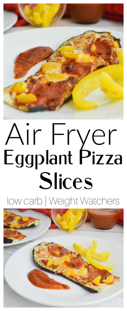 Air Fryer Eggplant Pizza Slices