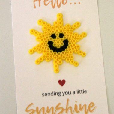 Sunshine Perler Bead + Card