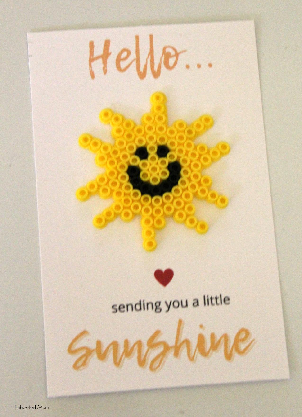 Sunshine Perler Bead Card