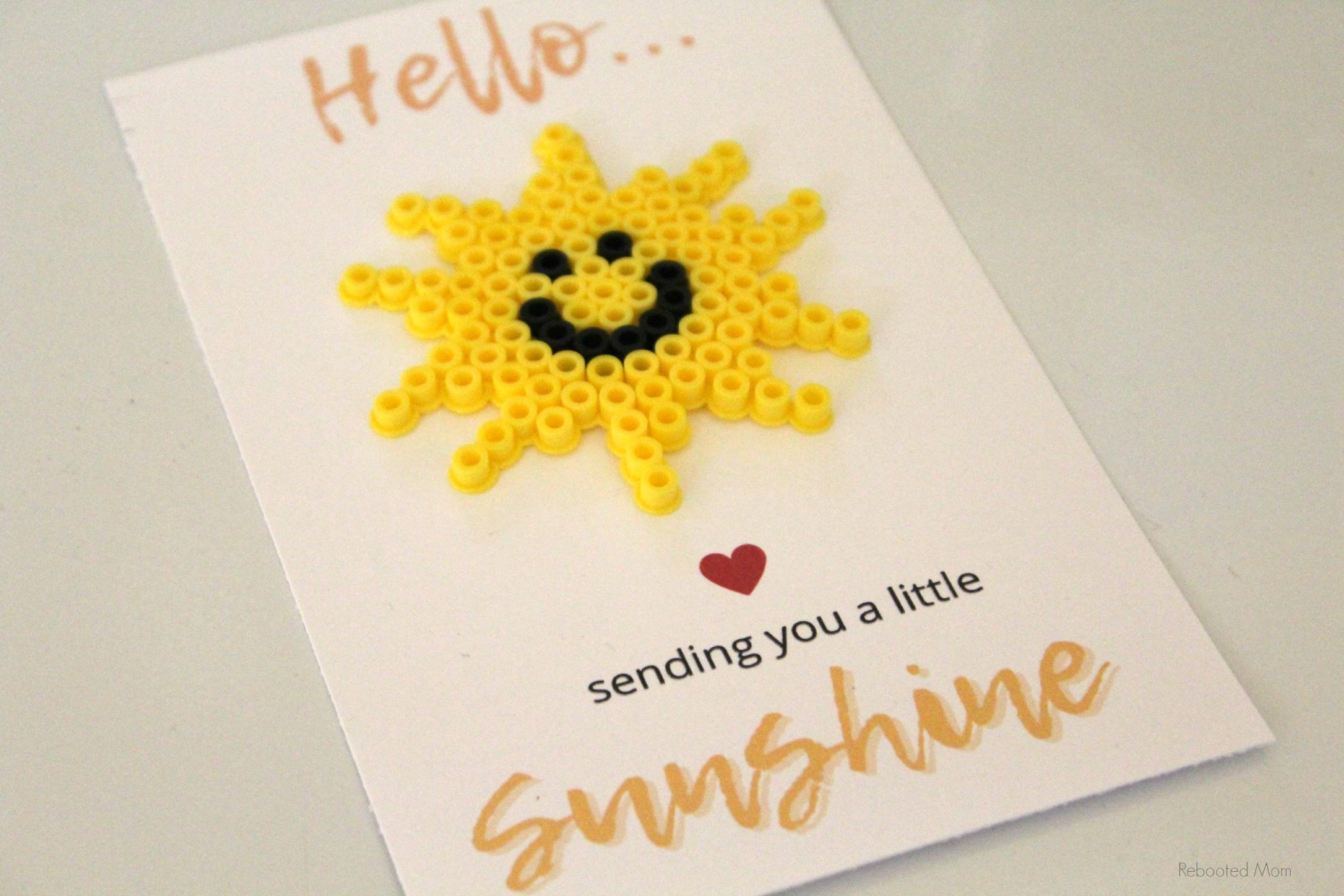 Sunshine Perler Bead