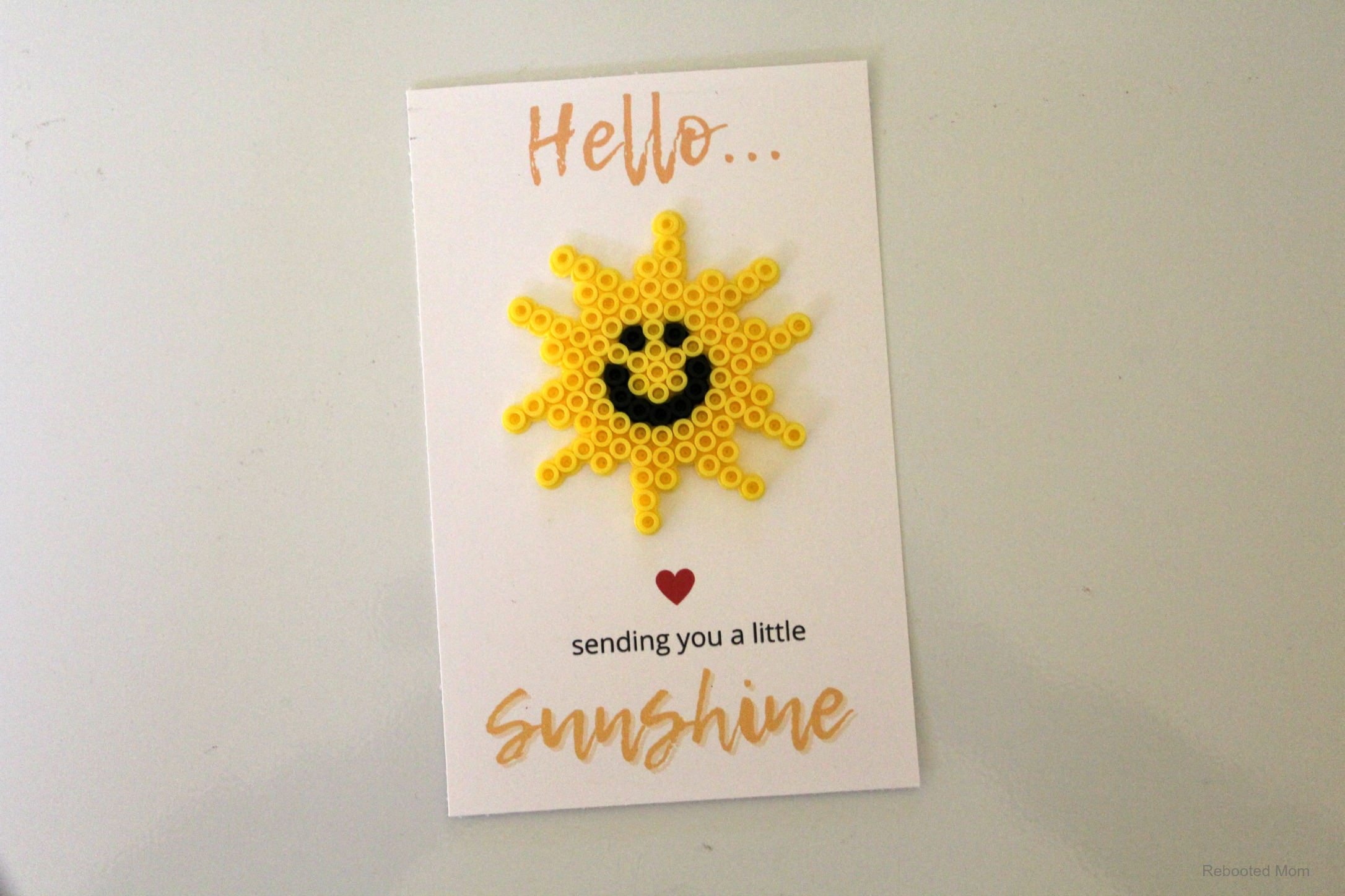 Sending you Sunshine Perler Bead Card