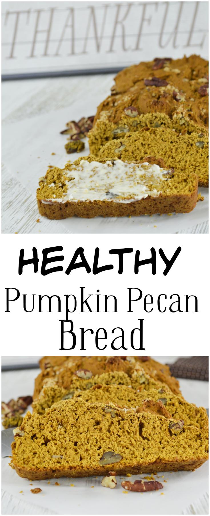 Healthy Pumpkin Pecan Bread