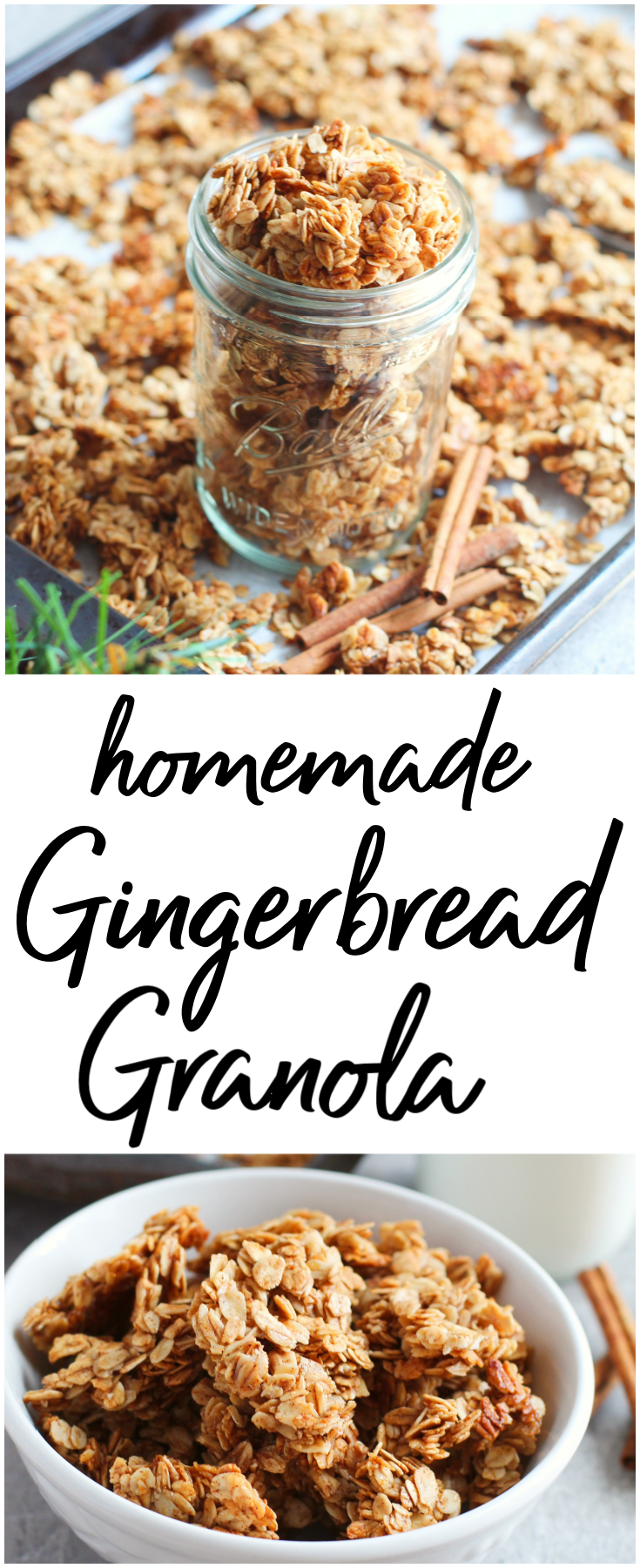 Homemade Gingerbread Granola